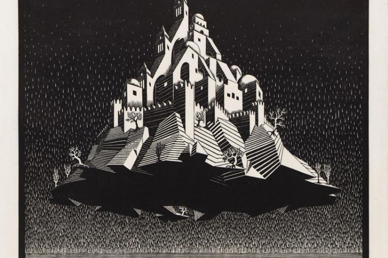 Maurits Cornelis Escher. Castle in the air
