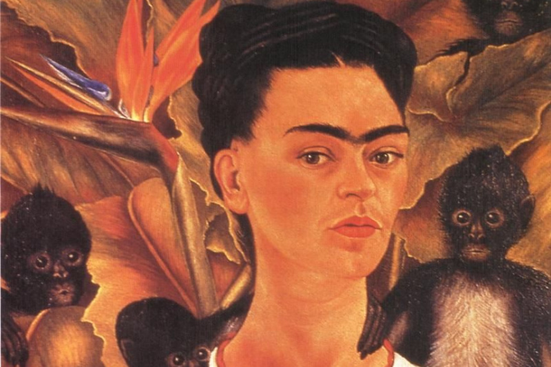 Frida Kahlo. Self portrait with monkeys