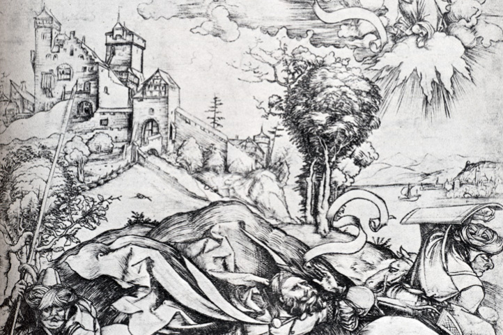 Альбрехт Дюрер. Обращение Святого Павла на пути в Дамаск