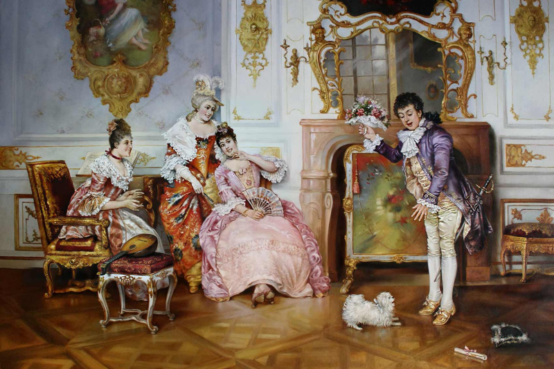 Владимир Абат-Черкасов. An unexpected meeting ... (Arrival of the groom)
