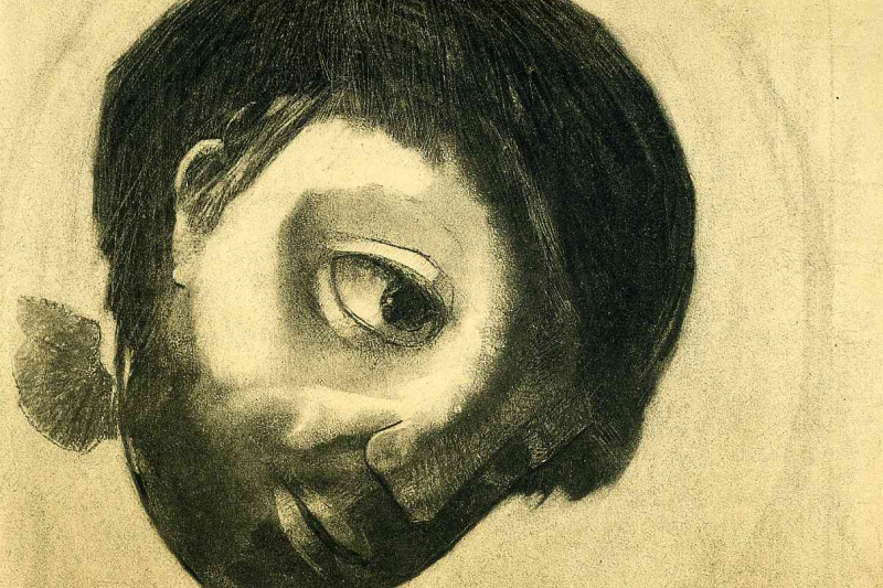 Odilon Redon. The Guardian Spirit Of Water