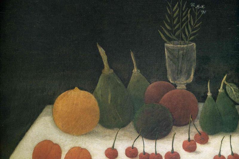 Henri Rousseau. Still life with cherries