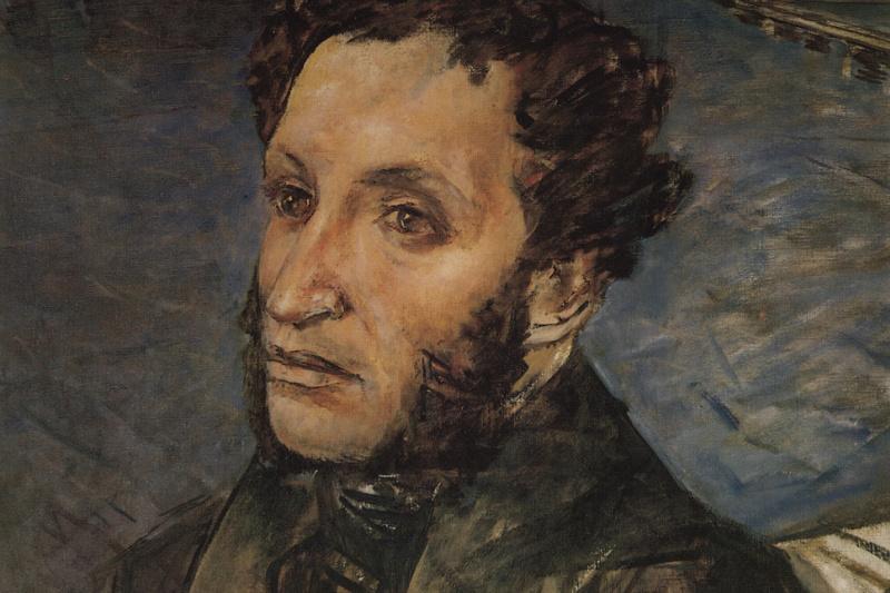 Kuzma Sergeevich Petrov-Vodkin. Pushkin in St. Petersburg