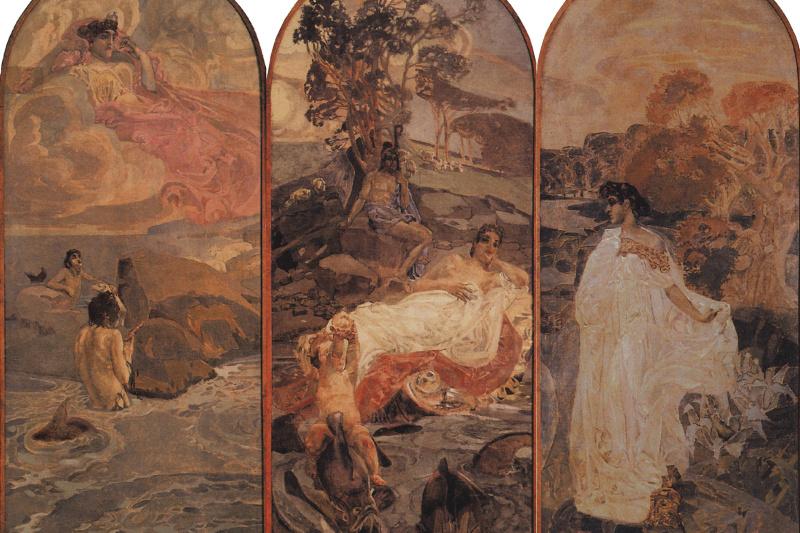Mikhail Vrubel. The Judgment Of Paris. Triptych