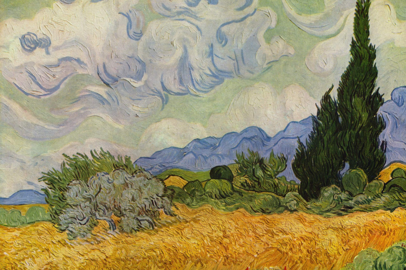 Vincent van Gogh. Wheat field with cypresses (option)