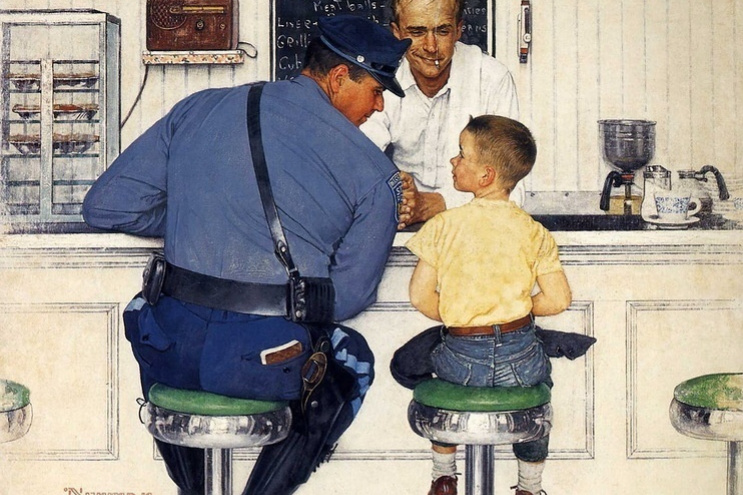 Norman Rockwell. The runaway