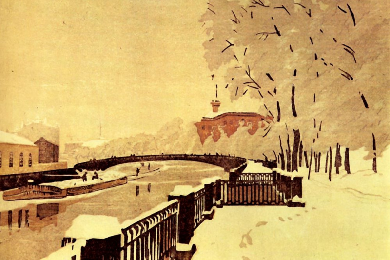 Anna Petrovna Ostroumova-Lebedeva. Saint-Petersburg. Summer gardens