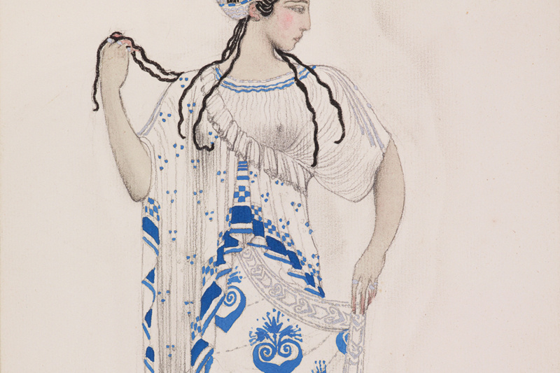 Lev Samoilovich Bakst (Leon Bakst). Ida Rubinstein in the role of Elena Spartanskaya