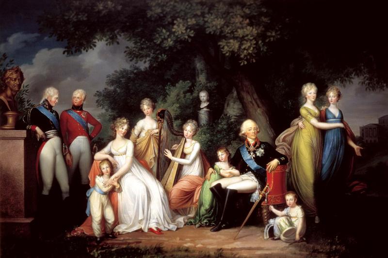 Gerhard Franz von Kügelgen. Paul I, Maria Feodorovna and their children