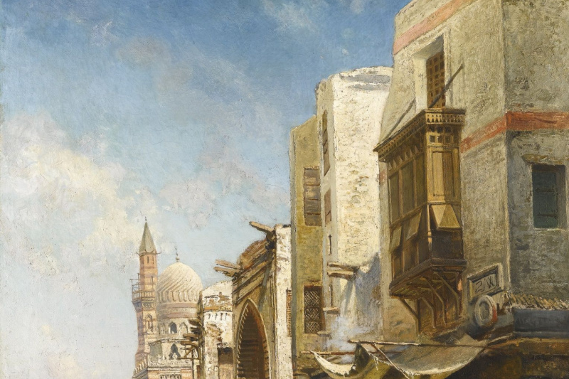 Nikolai Egorovich Makovsky. Street in Cairo