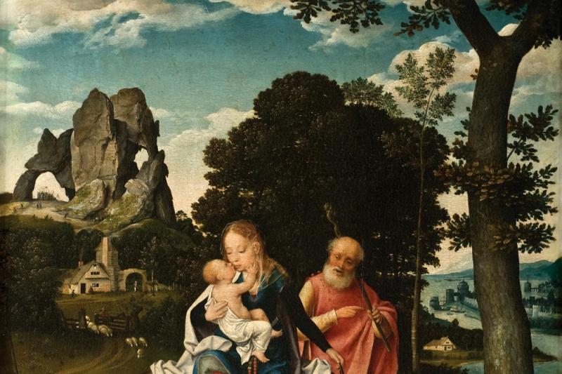 Йос ван Клеве. Бегство в Египет. ок 1520