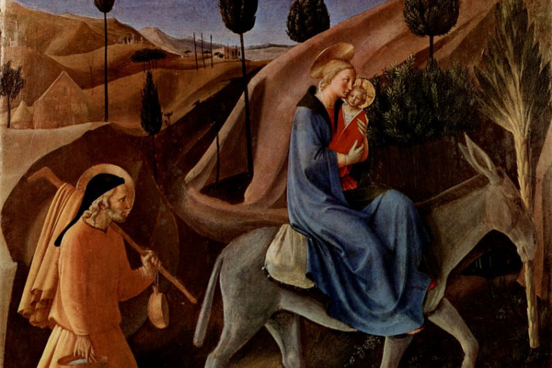 Fra Beato Angelico. Scenes from the life of Christ: Flight into Egypt