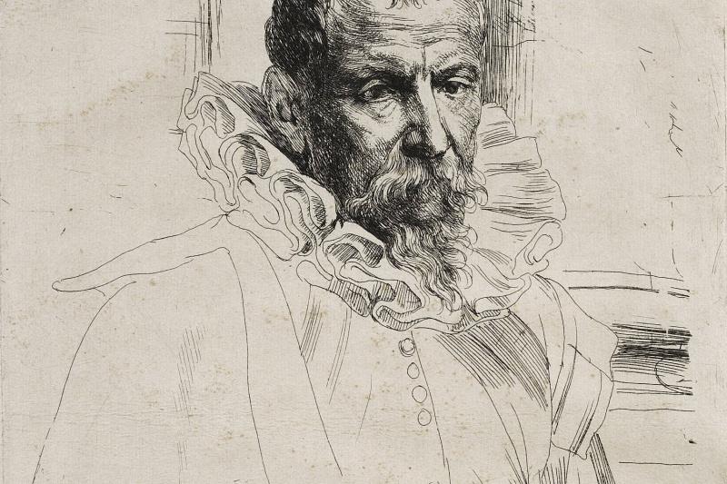 Антонис ван Дейк. Портрет Питера Брейгеля младшего