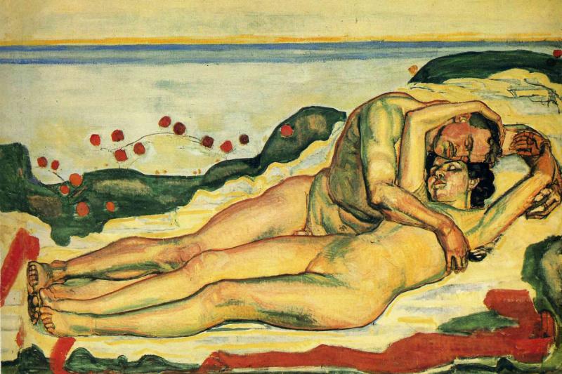 Ferdinand Hodler. Couple in love