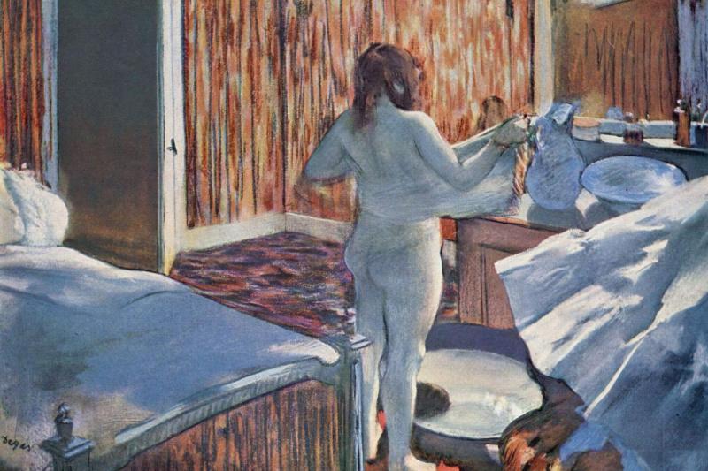 Edgar Degas. The woman behind the toilet