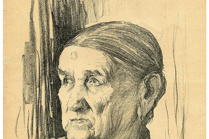 Lev Samoilovich Bakst (Leon Bakst). Portrait of Sergei Diaghilev nanny Avdotya Alexandrovna