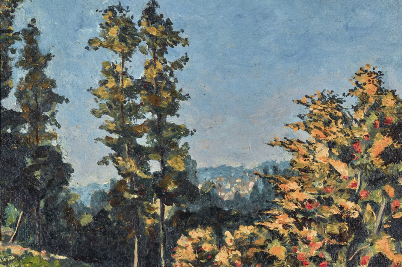 Winston Churchill. Landscape with Two Trees