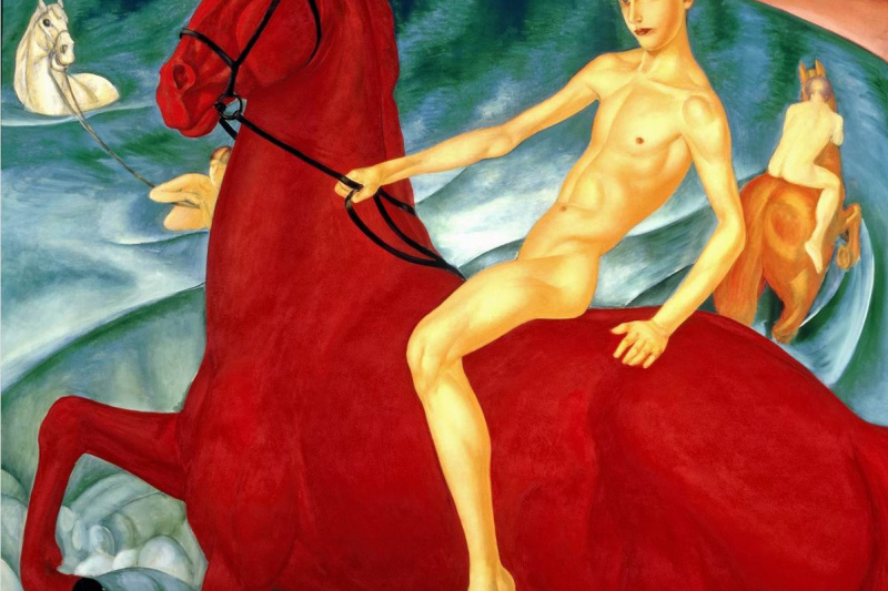 Kuzma Sergeevich Petrov-Vodkin. Bathing the red horse