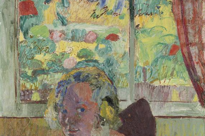 Cuno Amiè. The girl at the window