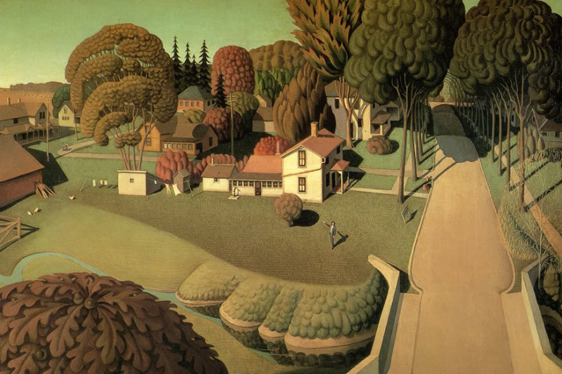 Grant Wood. The birthplace of Herbert Hoover, Western district, Iowa