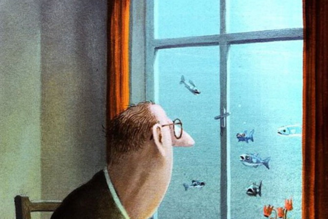 Gerhard Gluck. Andre was willing to be fed fish, but feared the consequences