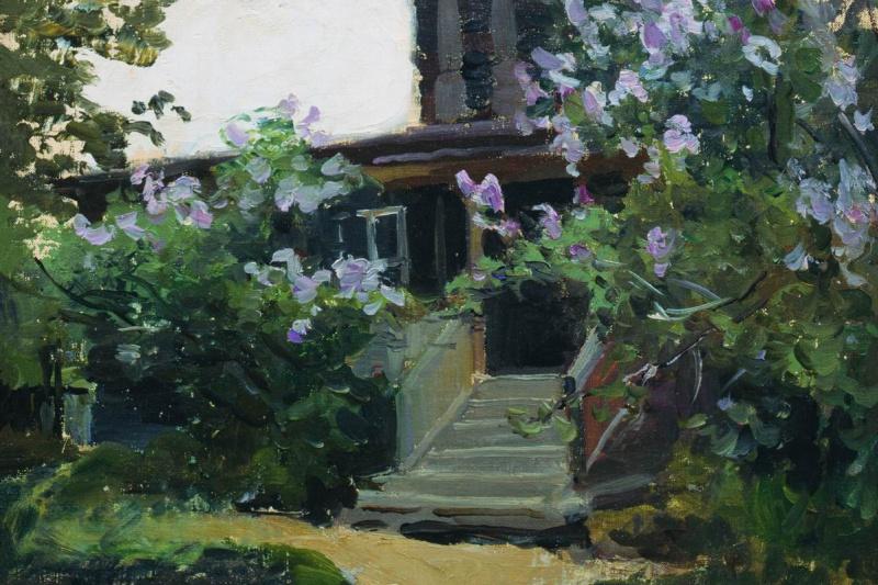 Alexey Stepanovich Stepanov. Gazebo under the flowers