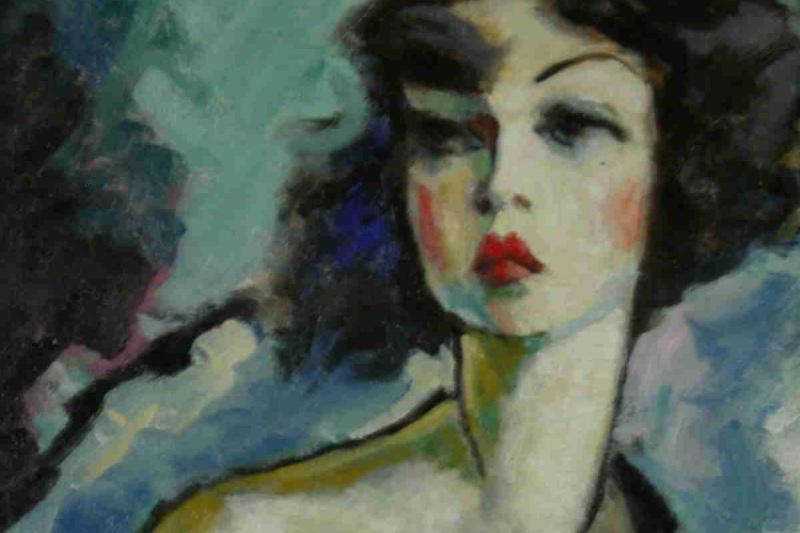 Constant Detre. Portrait of Kiki of Montparnasse
