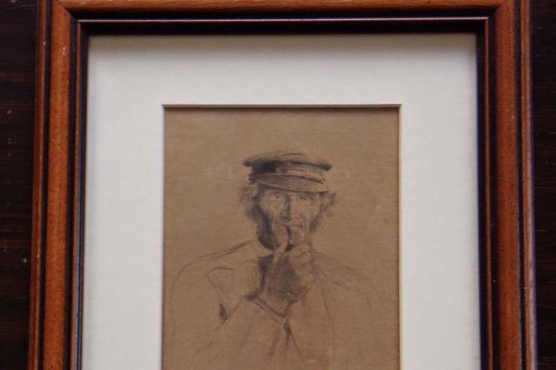 "Johan Nordhagen. ""Man with pipe""."