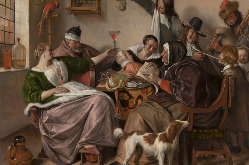 """Jan Steen. """"As the old sing, so the young pipe and plays"""""""