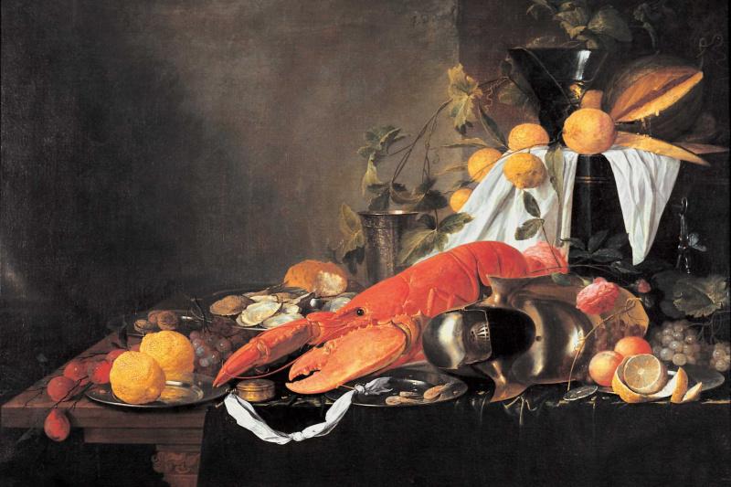 Jan Davids de Hem. Still life with lobster
