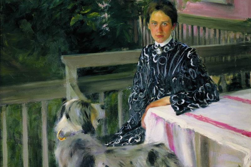 Boris Mikhailovich Kustodiev. Portrait Of Yulia Yevstafievna Kustodieva