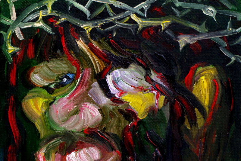 Alexander Ocher Kandinsky-DAE. Christ Crowned with Thorns. Christ after the torture