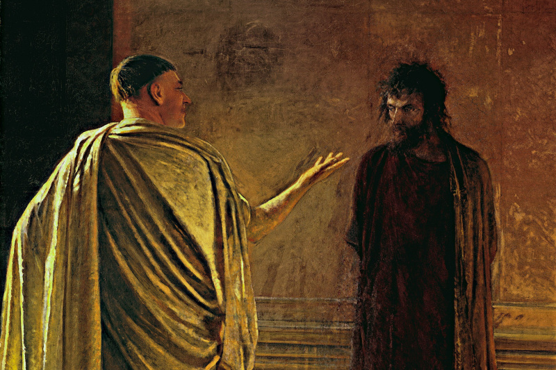 Nikolai Nikolaevich Ge. What is truth? Christ and Pilate