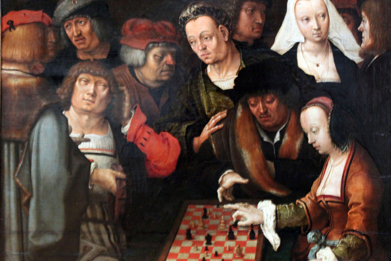 Lucas van Leiden (Luke of Leiden). The game of chess