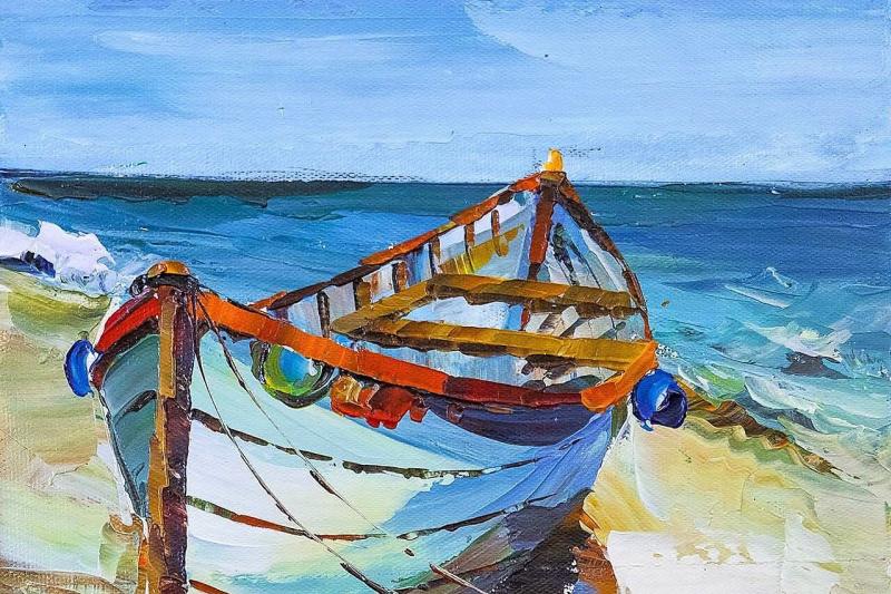 Jose Rodriguez. A boat. On the Mediterranean coast N2