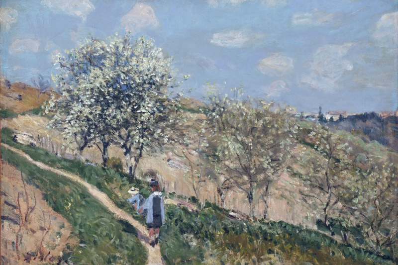 Alfred Sisley. Landscape (Spring at Bougival)
