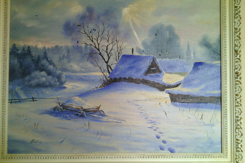 Pavel Evgenievich Petrov. Winter landscape, untitled