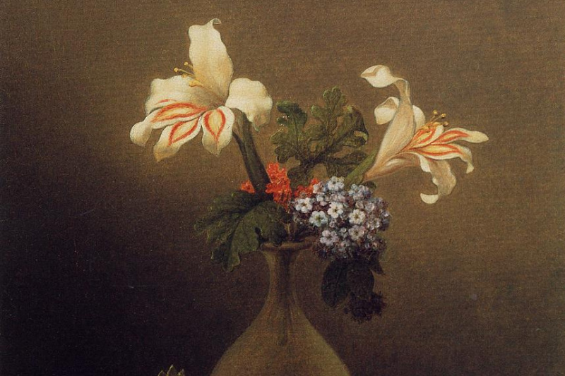 Martin Johnson Head. Vase with lilies and heliotropes