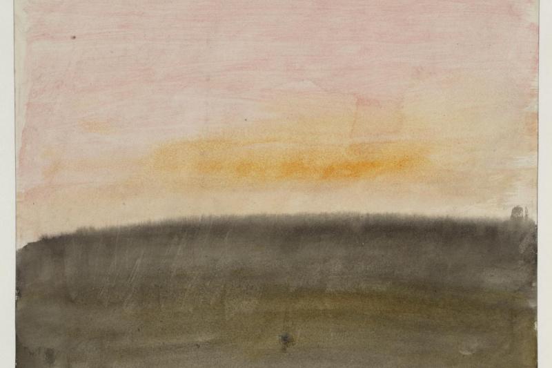 Джозеф Мэллорд Уильям Тёрнер. Рассветное или закатное небо над пейзажем
