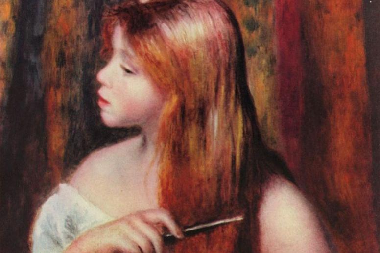 Pierre-Auguste Renoir. Hair girl