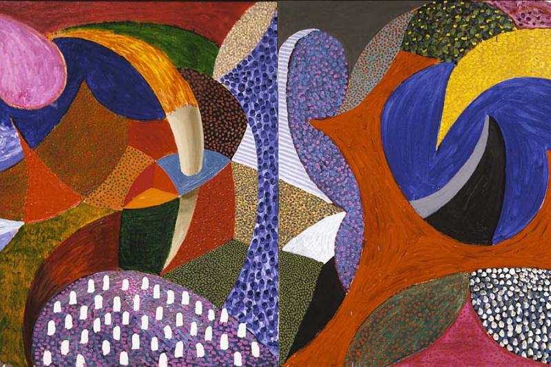 David Hockney. Dual input