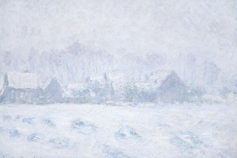 Клод Моне. Эффект снега в Живерни
