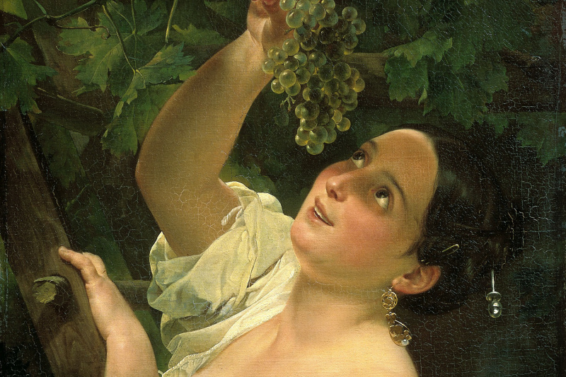 Karl Pavlovich Bryullov. Italian midday ( Italian, removing grapes )