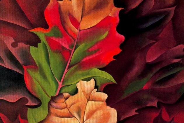 Georgia O'Keeffe. Autumn leaves