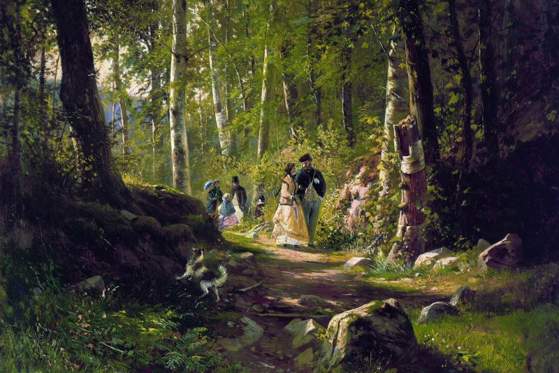 Ivan Ivanovich Shishkin. Walk in the woods