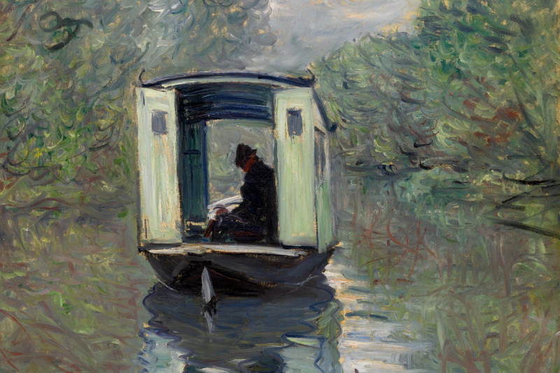 Claude Monet. Boat-Studio