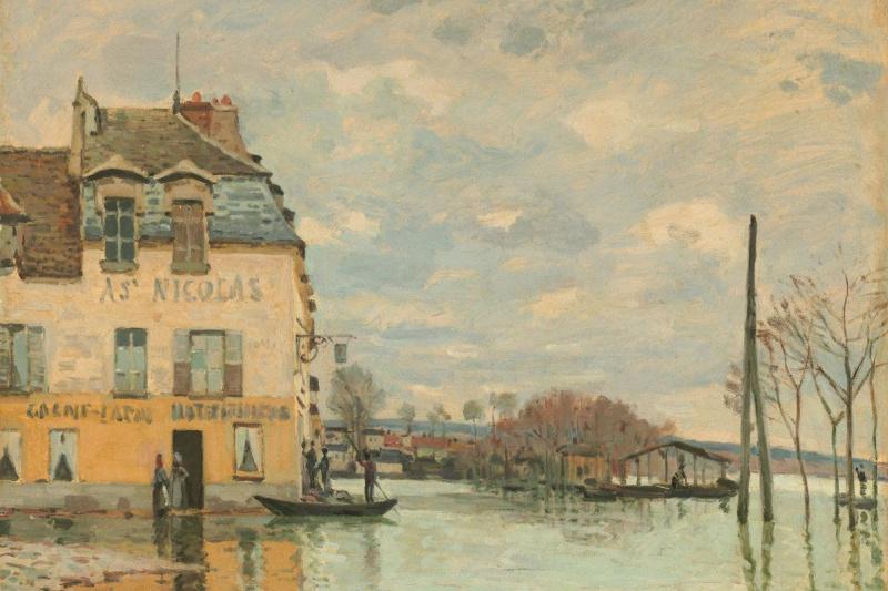 Alfred Sisley. Flood at Port Marly