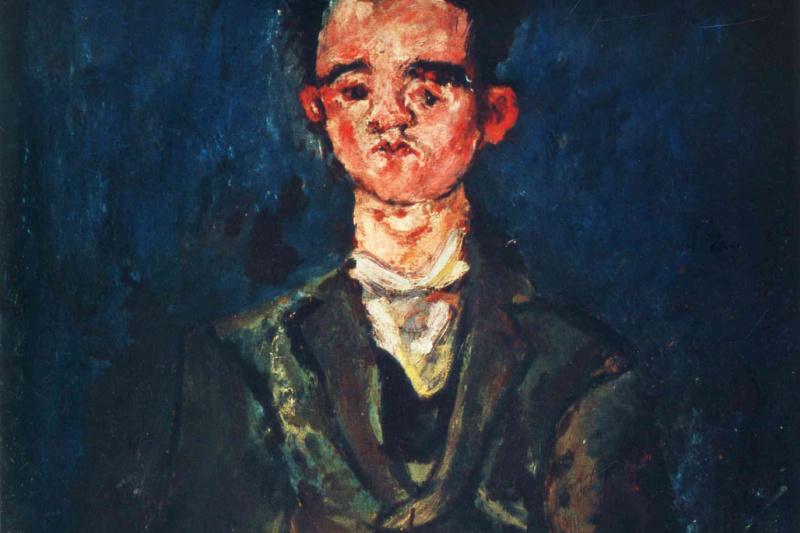 Haim Solomonovich Soutine. Portrait of a boy in blue