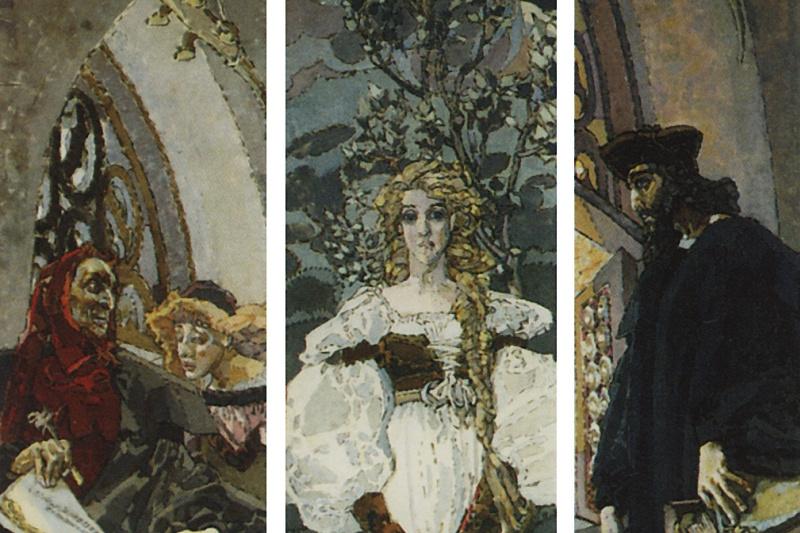 Mikhail Vrubel. Faust. Triptych