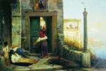Федор Андреевич Бронников. Больной у стен католического монастыря. 1874